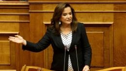 Η βουλευτής της Νέας Δημοκρατίας, Ντόρα Μπακογιάννη. ΑΠΕ-ΜΠΕ, Παντελής Σαίτας