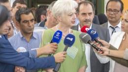 Η Πρόεδρος της Αλληλεγγύης Ελένη Θεοχάρους. Φωτογραφία Σ. ΚΟΝΙΩΤΗΣ, KΥΠΕ
