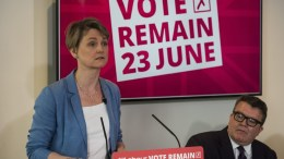 FILE PHOTO: Shadow Home Secretary Yvette Cooper (L) and Deputy Leader of the British Labour Party Leader Tom Watson (R) attend the launch of the Labour Party document 'Tory Brexit Budget 2016' event in Central London, Britain. EPA, WILL OLIVER