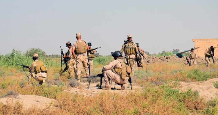 Στιγμιότυπο από τις επιχειρήσεις του Ιρακινού στρατού. Φωτογραφία ΚΥΠΕ.