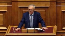 Ο αντιπρόεδρος της Κυβέρνησης Ιωάννης Δραγασάκης στη Βουλή. ΑΠΕ-ΜΠΕ, Αλέξανδρος Μπελτές