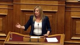 Η επικεφαλής της Δημοκρατικής Συμπαράταξης Φώφη Γεννηματά. ΑΠΕ-ΜΠΕ, Αλέξανδρος Μπελτές