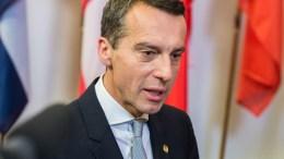 Ο Αυστριακός καγκελάριος Κρίστιαν Κερν. EPA, STEPHANIE LECOCQ