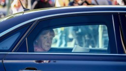 FILE PHOTO: German Chancellor Angela Merkel, arrives in a limousine at the CDUparty headquarters in Berlin, Germany, 15 August 2016. EPA, KAY NIETFELD