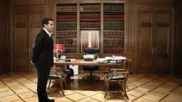 Ο πρωθυπουργός Αλέξης Τσίπρας στο Μέγαρο Μαξίμου, Αθήνα. ΑΠΕ-ΜΠΕ, ΓΙΑΝΝΗΣ ΚΟΛΕΣΙΔΗΣ