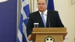 Ο υπουργός Εξωτερικών της Νικόλαος Κοτζιάς στο υπουργείο Εξωτερικών. ΑΠΕ-ΜΠΕ, ΑΛΕΞΑΝΔΡΟΣ ΒΛΑΧΟΣ