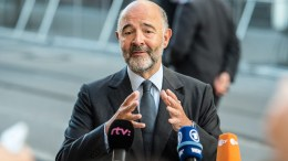 European Commissioner for Economic Affairs, Taxation and Customs, Frenchman Pierre Moscovici.  EPA/FILIP SINGER
