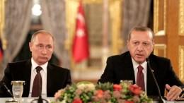 FILE PHOTOQ Ο Ταγίπ Ερντογάν με τον Βλαντιμίρι Πούτιν. EPA, OLGA BOZOGLU