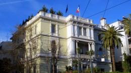 Το κτίριο της Γαλλικής Πρεσβείας στην Αθήνα. Φωτογραφία www.lifo.gr