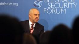 Albanian Prime Minister Edi Rama. EPA, DJORDJE SAVIC
