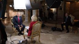 Ο Ντόναλντ Τραμπ κατά τη συνέντευξη του στο CBS. Φωτογραφία CBS NEWS