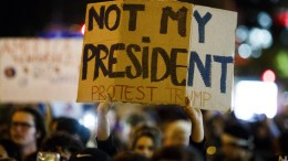 FILE PHOTO. People participate in a protest against the election of Donald Trump as President of the United States. EPA, JUSTIN LANE
