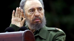 A file picture shows Cuban President Fidel Castro gesturing as he delivers a speech at the celebration of the 53th anniversary of the attack on the Moncada barracks. EPA, STR