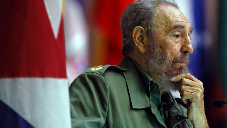 A file shows Cuban President Fidel Castro delivering his speech in the closing meeting of a seminar about Politics and Programs of Literacy Campainig in Havana, Cuba. EPA/ALEJANDRO ERNESTO