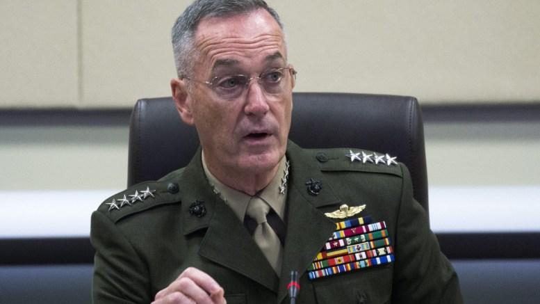 U S Joint Chiefs of Staff Chairman General Joseph Dunford. EPA/SHAWN THEW