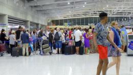 Δέκα εκατ. επιβάτες πέρασαν από τα αεροδρόμια της Κύπρου.  Φωτογραφία ΚΥΠΕ.