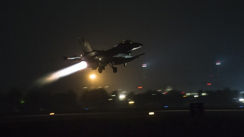 File Photo: Αεροσκάφος F-16 Block 50 πραγματοποιεί νυχτερινή πτήση στο Αιγαίο. Ανήκει στην 111 Πτέρυγας Μάχης (ΠΜ)/ Αεροπορική Βάση Νέας Αγχιάλου. ΑΠΕ- ΜΠΕ, ΓΡΑΦΕΙΟ ΤΥΠΟΥ ΓΕΑ, STR