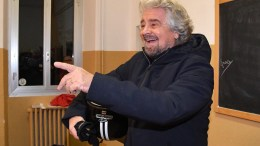 Five-Star Movement (M5S) leader Beppe Grillo casts his ballot in a polling station during the referendum on the government's constitutional reform law in Genoa, Italy, 04 December 2016. The crucial referendum is considered by the government to end gridlock and make passing legislation cheaper by, among other things, turning the Senate into a leaner body made up of regional representatives with fewer lawmaking powers. It would also do away with the equal powers between the Upper and Lower Houses of parliament - an unusual system that has been blamed for decades of political gridlock. EPA, LUCA ZENNARO