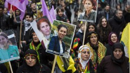 File PHOTO: Kurds take part in a demonstration marking the first anniversary of the killing of three Kurdistan Workers Party (PKK) members in Paris, France, 11 January 2014. Three Kurdish women, including founding member of the PKK, Sakine Cansiz, were found dead at a community centre in Paris on 10 January 2013. EPA, IAN LANGSDON