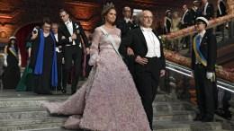 Princess Madeleine of Sweden and Nobel Physics Laureate Duncan Haldane arrive for the 2016 Nobel prize award banquet during the 2016 Nobel prize award ceremony at the Stockholm Concert Hall in Stockholm, Sweden, 10 December 2016. EPA, JESSICA GOW SWEDEN OUT