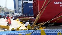 Ανεστάλη η απεργία της ΠΝΟ - Φεύγουν τα πλοία από τα λιμάνια. ΑΠΕ-ΜΠΕ/Παντελής Σαίτας