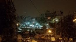 Χιόνι πέφτει και στου Ζωγράφου. Φωτογραφία www.mignatiou.com
