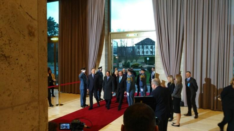 Ο Πρόεδρος της Κυπριακής Δημοκρατίας Νίκος Αναστασιάδης εισέρχεται στο κτίριο των Ηνωμένων Εθνών. Φωτογραφία www.mignatiou.com