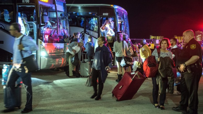 Hundreds of stranded passengers are evacuated from the Fort Lauderdale International Airport and transferred to Fort Lauderdale's Everglades Port, Cruise Terminal 2, in Fort Lauderdale, Florida, USA, 06 January 2017. The travelers were evacuated due to a shooting that left five people dead at Fort Lauderdale's airport. Five of the eight injured in the deadly attack at Fort Lauderdale airport are in stable conditions, according to medial officials. According to reports, the gunman, identified as Esteban Santiago, was taken into custody. EPA, GIORGIO VIERA
