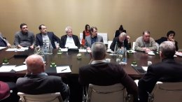 Ο Πρόεδρος της Δημοκρατίας Νίκος Αναστασιάδης με τους αρχηγούς των πολιτικών κομμάτων και τους συμβούλους του. Φωτογραφία ΠΡΟΕΔΡΙΚΟ ΜΕΓΑΡΟ