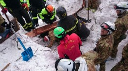 FILE PHOTO. Rescue crews in the area of the hotel Rigopiano, which was hit by a massive avalanche apparently due to earthquakes on 18 January in central Italy, in Farindola, Abruzzo region, Italy, 20 January 2017. The first group of survivors from the avalanche that hit Rigopiano Hotel were found in the area of the bar and billiard room, Farindola Mayor Ilario Lacchetta said on 20 January. He said it was a 'miracle' they had been found and that rescuers were continuing to work in 'very tough' conditions with the risk of further avalanches. EPA/STRINGER
