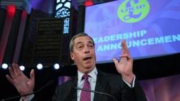 Former United Kingdom Independence Party (UKIP) leader, Nigel Farage. EPA/FACUNDO ARRIZABALAGA