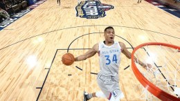 File Photo: Eastern Conference forward Giannis Antetokounmpo of Greece dunks the ball during the NBA All-Star Game at the Smoothie King Center in New Orleans, Louisiana, USA, 19 February 2017.  EPA, RONALD MARTINEZ / GETTY IMAGES / POOL