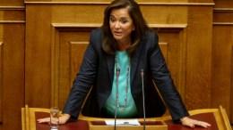 Η Ντόρα Μπακογιάννη μιλά στην Ολομέλεια της Βουλής. ΦΩΤΟΓΡΑΦΙΑ ΑΡΧΕΙΟΥ, ΑΠΕ-ΜΠΕ, Παντελής Σαΐτας