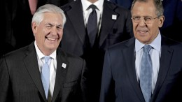 File Photo: US Secretary of State Rex Tillerson  and Russian Foreign Minister Sergei Lavrov.   EPA, FRIEDEMANN VOGEL