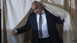 File Photo: Boiko Borisov, former Bulgarian prime minister and leader of centre-right GERB party leaves a polling booth after voting during the parliamentary elections in Sofia, Bulgaria on 26 March 2017. EPA, GEORGI LICOVSKI