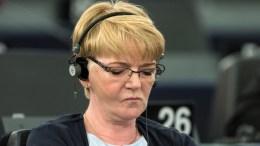 Gabi Zimmer, President of the European United Left - Nordic Green Left (GUE/NGL) political group of European Parliament. EPA, PATRICK SEEGER