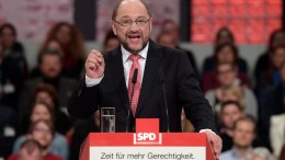 Designated Social Democratic Party (SPD) chairman and German Chancellor candidate Martin Schulz speaks during federal congress of Social Democratic Party (SPD) in Berlin, Germany, 19 March 2017. The SPD congress will elect new party chairman and a candidate for German Chancellor in the German elections, which will be held on 24 September 2017. EPA/CLEMENS BILAN