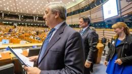 Ο πρόεδρος του Ευρωπαϊκού Κοινοβουλίου, Αντόνιο Ταγιάνι. EPA/STEPHANIE LECOCQ