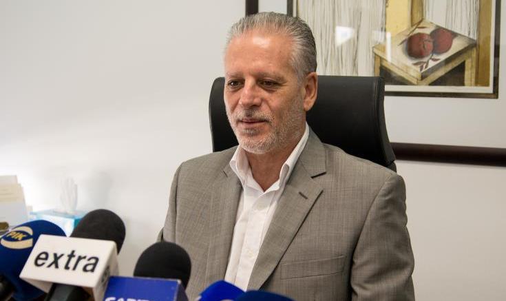 Ο πρόεδρος της ΕΔΕΚ, Μαρίνος Σιζόπουλος. ΚΥΠΕ.