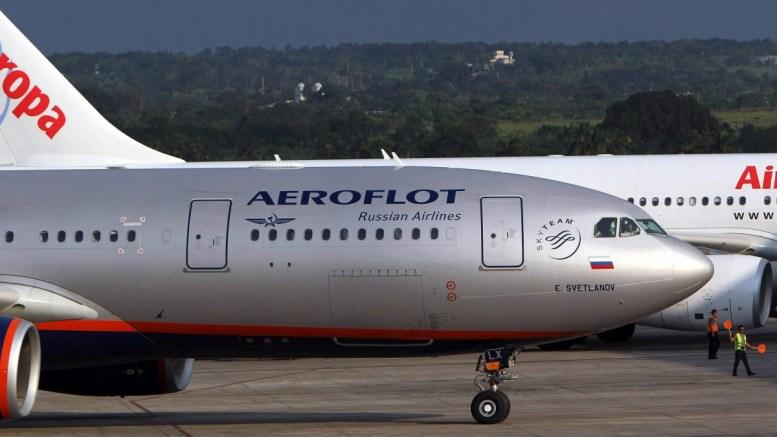FILE PHOTO.  Στη φωτογραφία εικονίζεται αεροσκάφος της ρωσικής Aeroflot. EPA, ALEJANDRO ERNESTO