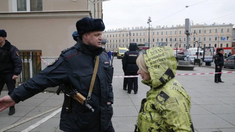 FILE PHOTO. Police officers in Saint Petersburg, Russia. EPA, ANATOLY MALTSEV