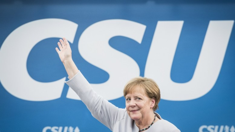 FILE PHOTO. Germany's Christian Democratic Union (CDU) party chairwoman and German Chancellor Angela Merkel attends an election campaign event of the German Christian Social Union (CSU) party at the 46th Truderinger Festwoche festival week in Munich, Bavaria, Germany. EPA, CHRISTIAN BRUNA