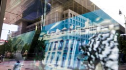 The headquarters of the Federal Bureau of Investigation (FBI) is seen in the reflection of a souvenir shop in Washington, DC, USA, 10 May 2017. US President Donald Trump's decision to fire FBI director James Comey, 09 May 2017, is a reportedly controversial one given that Comey is investigating a possible collusion between Russia and the Trump election campaign. EPA, JIM LO SCALZO