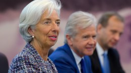 File Photo: Managing Director of the International Monetary Fund (IMF) Christine Lagarde attends a meeting with Chinese Premier Li Keqiang (not seen) at the Great Hall of the People in Beijing. EPA, ETIENNE OLIVEAU GETTY IMAGES / POOL
