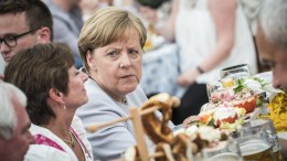 File Photo: Germany's Christian Democratic Union (CDU) party chairwoman and German Chancellor Angela Merkel attends an election campaign event of the German Christian Social Union (CSU) party at the 46th Truderinger Festwoche festival week in Munich, Bavaria, Germany. EPA, CHRISTIAN BRUNA