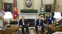File Photo: US President Donald J. Trump (R) and President of Turkey Recep Tayyip Erdogan (L) in the Oval Office of the White House in Washington, DC, USA. EPA, MICHAEL REYNOLDS