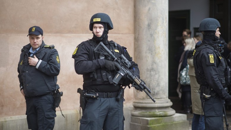 Danish police stands on guard. FILE PHOTO.  EPA/Emil Hougaard DENMARK OUT