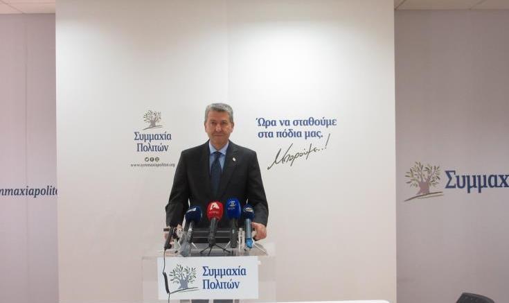 Ο πρόεδρος της Συμμαχίας Πολιτών, Γιώργος Λιλλήκας. Φωτογραφία ΚΥΠΕ