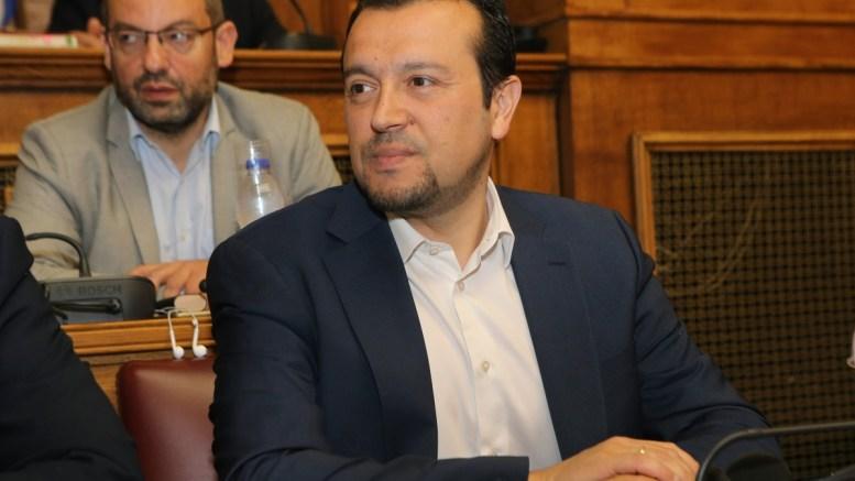 Ο υπουργός Ψηφιακής Πολιτικής, Τηλεπικοινωνιών και Ενημέρωσης, Νίκος Παππάς, στη Βουλή. ΑΠΕ-ΜΠΕ, Παντελής Σαΐτας