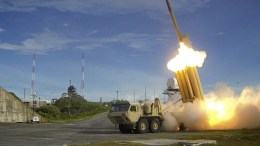 A file handout photo made available by the Missile Defense Agency, via the US Department of Defense (DoD), shows a Terminal High Altitude Area Defense (THAAD) interceptor launched during a successful intercept test at an undisclosed location in the USA. EPA/MISSILE DEFENSE AGENCY HANDOUT HANDOUT EDITORIAL USE ONLY/NO SALES